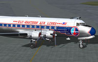 Screenshot of Eastern Douglas DC-4 on the ground.