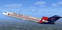 Screenshot of Efata Papua Airline Boeing 727-200 in flight.
