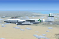 Screenshot of Egyptian Meteor F8 in flight.