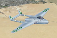 Screenshot of Egyptian Vampire FB5 in flight.