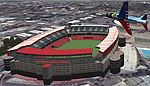 Aerial view of Ellis Park Stadium, Johannesburg.
