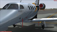Screenshot of Embraer Phenom 100 PR-TED on the ground.