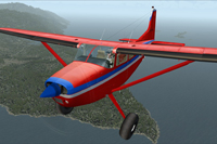 Screenshot of Era Alaska Cessna C185F in flight.