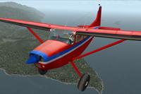 Screenshot of Era Alaska Cessna C185F in flight.