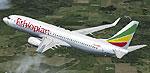 Screenshot of Ethiopian Airlines Boeing 737-800 in flight.