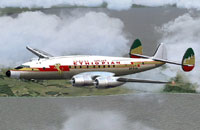 Screenshot of Ethiopian Airlines L-749 in flight.