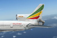 Ethiopian Airlines Lockheed L-1011 TriStar tail decal.