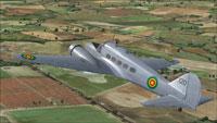 Screenshot of Ethiopian Avro 19 in flight.