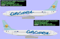 Profile views of Eurocypria Airlines Boeing 737-8Q8 5B-DBV.