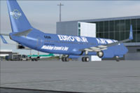 Screenshot of Eurovair Boeing 737-800 on the ground.