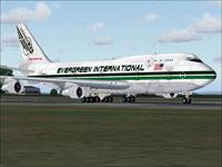 Screenshot of Evergreen Boeing 747-346F on the ground.