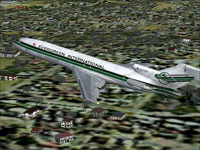 Screenshot of Evergreen International Boeing 727-200 in flight.