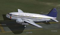 Screenshot of Everts Air Fuel Curtiss C-46 on runway.