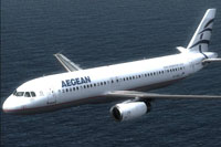 Screenshot of SMS Aegean A320 in flight.