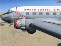 Screenshot of 'World Travel Airlines' prop in flight.