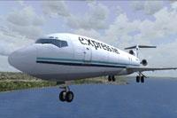 Screenshot of Express.Net Airlines Boeing 727-200 in flight.