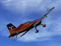Screenshot of Extra 300S The Blades G-ZXEL in flight.