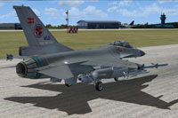 Screenshot of F-16 preparing for take-off.