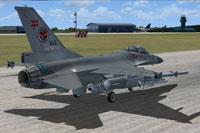 Screenshot of F-16 preparing for take-off.