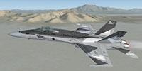 "Screenshot of F-18 ""Ferris"" in flight."