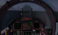 Screenshot of F-18 Hornet virtual cockpit.