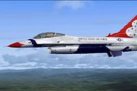 Screenshot of F16C in flight.