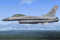 Screenshot of F16D in flight.