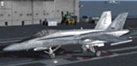 Screenshot of F/A-18 Hornet on runway.