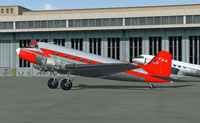 Screenshot of FAA Douglas DC-3/C-47 on the ground.