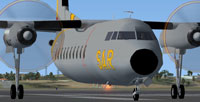 Screenshot of FAE Fokker F27 Mk200 SAR on runway.