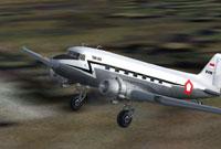 Screenshot of FASI Douglas DC-3 on the ground.