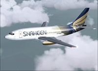 Screenshot of FFX Shaheen Air International 737-200 in flight.