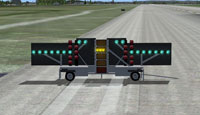 Screenshot of FLOLS trailer in situe on the runway.