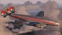 Screenshot of FSDZigns Lockheed L-049A in flight.