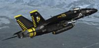 Screenshot of VRS Superfug in flight.