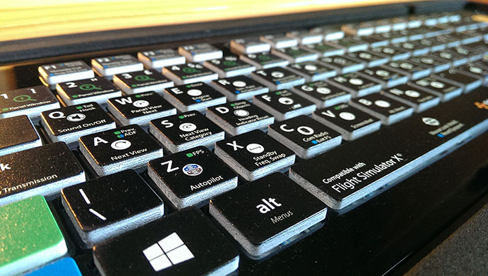 Editors Keys print straight onto the keys with amazing clarity.