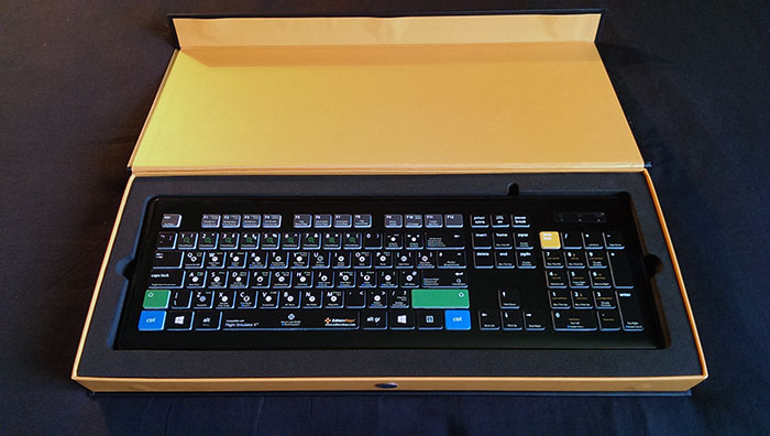 Perfectly cut foam keeps the keyboard safe and secure while in transit.