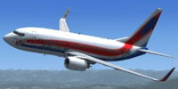 Screenshot of FSweekend.com Boeing 737-700NGXWL in flight.