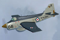 "Screenshot of Fairey Gannet AEW.3 ""XL502"" in flight."