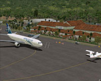 Screenshot of Faleolo International Airport scenery.