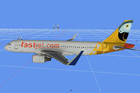 Screenshot showing the textured model of the Fastjet Airus A320.