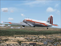 Screenshot of Faucett Douglas DC-3 in flight.