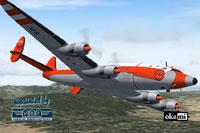 Screenshot of FAA Lockheed L-749 in flight.
