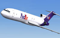 Screenshot of Fedex Boeing 727-200F in flight.