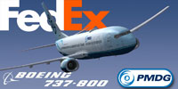 Screenshot of Fedex Boeing 737-800 in flight.