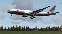 Screenshot of Fictional Private Boeing 777-200LR.