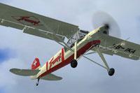 Screenshot of Fieseler Storch Fi 156 HB-IKA in flight.