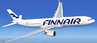 Screenshot of Finnair Airbus A330-300 in flight.
