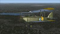 Screenshot of Finnish Air Force DeHavilland Cirrus Moth in flight.