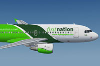Screenshot of First Nation Airways Airbus A319-100 in flight.